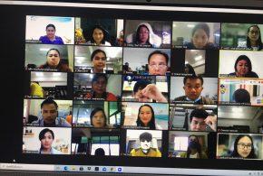 การประชุมออนไลน์ซักซ้อมการดำเนินงานเพื่อพัฒนาเขียนรายงานปรากฏการณ์ในชั้นเรียน